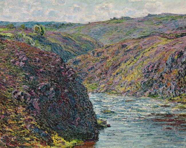 Ravines of the Creuse at the End of the Day, 1889,