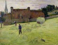 Haymaking in Brittany, 1888, by Paul Gauguin