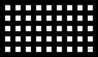 Checks - Squares - Black and White by Angel Honey,
