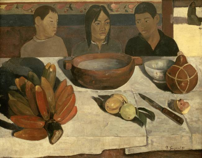 The Meal )the Bananas(, 1891, by Paul Gauguin