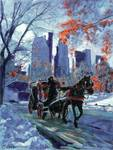 First Snow in Central Park - New York City Art by
