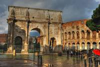 Colosseum and Arch of Constantine