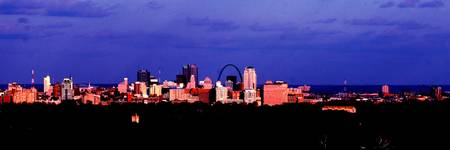 St. Louis Skyline (High Contrast Panoramic)