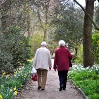 Elderly women in the garden Art Prints & Posters by Rivka de Jonge