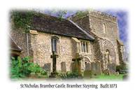 St Nicholas Church,Bramber,Bulit 1073