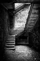 famous stairs bw