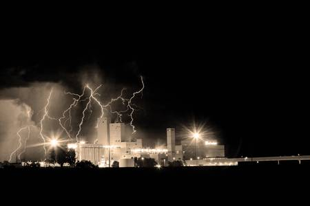 Budweiser Storm Moving Out Sepia Image