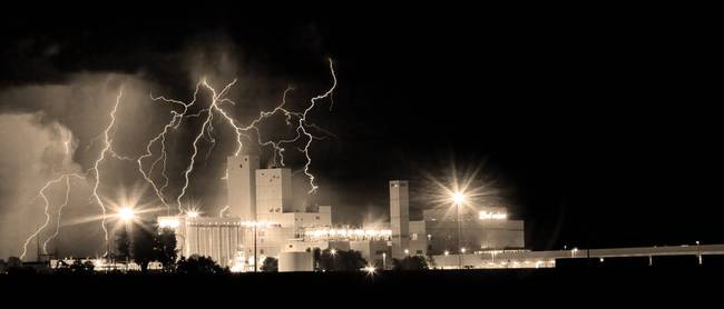 Budweiser Storm Moving Out Sepia Pano