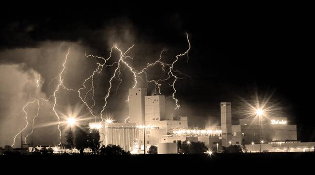 Budweiser Storm Moving Out Sepia Pano Crop