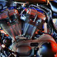The Engine- Harley Davidson. Art Prints & Posters by Reggie Wan