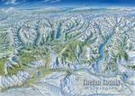Chelan County Washington in Winter Posters