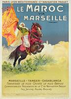 Morocco and Marseille Vintage Poster