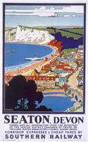 Seaton, Devon - Vintage Railway Travel Poster