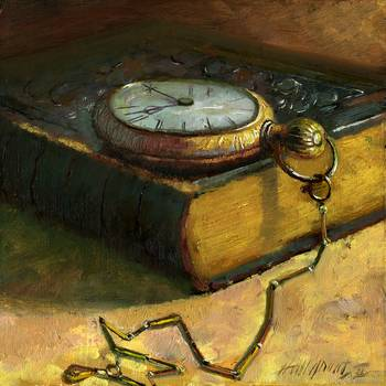 Dante's Inferno With Pocket Watch by artist Hall Groat II. Giclee prints, art prints, a still life, fine art print; from an original oil painting