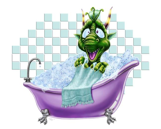 Dragon Bartleby's Bathtub Surprise