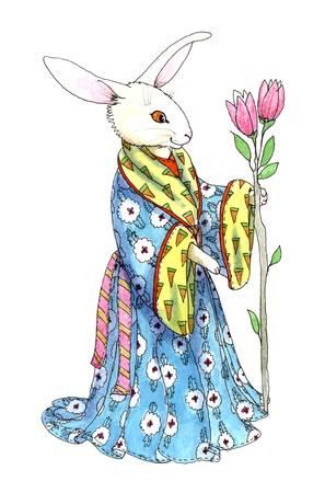 Robed Hare by Diana Delosh
