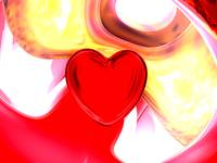 Lonely Heart Abstract