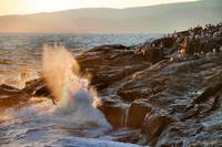 Late Evening Sun and Surf at Schoodic Point 2