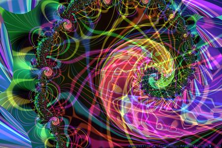 Psychedellic Madras Fractal by Ann Stretton