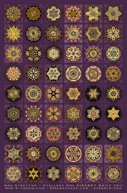 Stellars One Dingbat Quilt by Ann Stretton