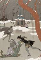 Ice Skating on the Frozen Lake, illustration for '