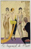 The Judgement of Paris, 1920-30 (pochoir print)
