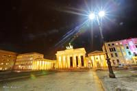 Brandenburg Gate and Light