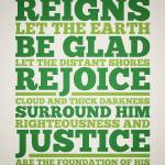 Psalm 97:1-2 Prints & Posters