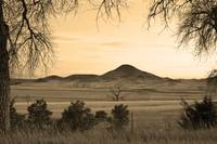 Haystack Mountains Boulder Colorado in Sepia