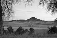 Haystack Mountains Boulder Colorado BW