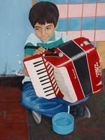 Boy Accordian Player 1