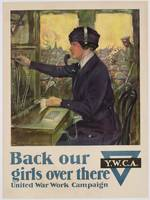 'Back Our Girls Over There', World War I YWCA post