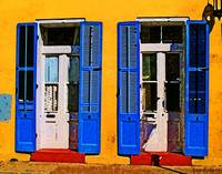 Blue Shuttered Doors