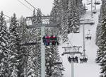 Colorado Chair Lift, Winter