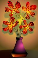 Ravishing beauty of the flowers in a vase