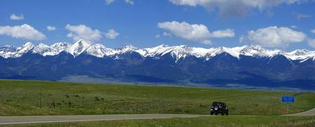 Wide View of the Mountains in Colorado