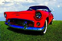 1955 Ford Thunderbird - Red