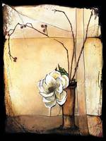 Magnolia with Rose Hips - Ikebana