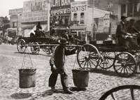 """Chinaman"" Carrying Products c1860 San Francisco by WorldWide Archive"