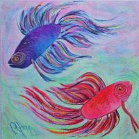 BETTA  FISH Art Prints & Posters by PJAY MCCONNELL