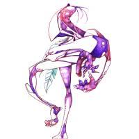 The Purple Dangleh Art Prints & Posters by Micah.. BlackLight