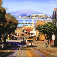 """Hyde Street Fishermans Wharf"" by russwagnerart"