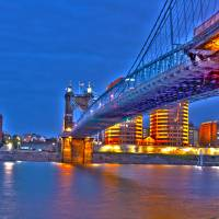 John A. Roebling Suspension Bridge_HDR Art Prints & Posters by faf1967