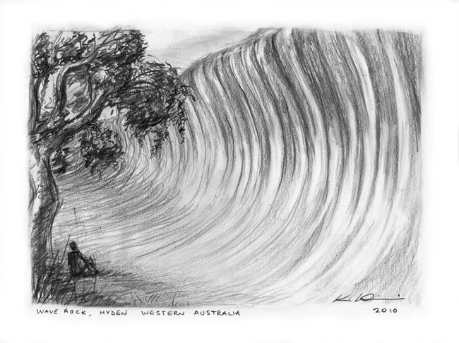 Wave rock hyden western australia by kimwainwright 2010
