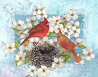 Mating Cardinals by Sharon Himes