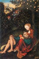 Samson and Delilah by Lucas Cranach the Elder