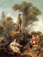 The Declaration of Love by Jean-Honore Fragonard