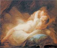 The Happy Lovers by Jean-Honore Fragonard