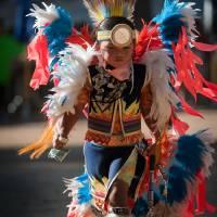 Chumash native American teen dancing DSC9442 Art Prints & Posters by Eyal Nahmias