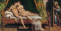 Two Lovers by Giulio Romano